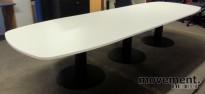 Stort, moderne møtebord i hvitt, 440x120cm, NYTT For 14-16 personer