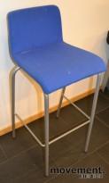 Barkrakker fra Steelcase i blått, 78,5cm sittehøyde, pent brukte