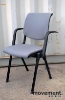 Håg Conventio 9510 stablestol / møteromsstol i grått / sort, pent brukt