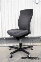 EFG Splice kontorstol i grå mikrofiber (Comfort), uten armlener, pent brukt