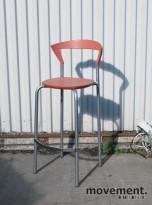 Pelikan Design / Bent Krogh Opus 7202 barkrakk / barstol i lys rød, pent brukt