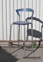 Pelikan Design / Bent Krogh Opus 7202 barkrakk / barstol i lys blå, pent brukt