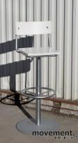 Piiroinen barkrakk / barstol i hvitt / grått, sittehøyde 79,5 cm, brukt