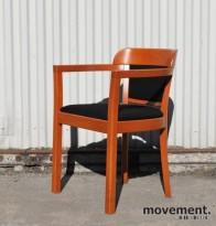 IKEA konferansestol / besøksstol i kirsebær / sort, pent brukt