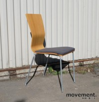 Hov Dokka konferansestol / besøksstol i eik / grått, pent brukt