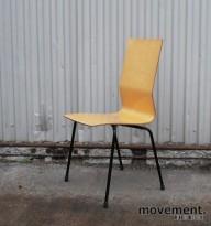 Klaessons konferansestol i formspent bjerk / sort, brukt