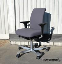 Håg H05 5300 kontorstol i grått (MT0007) med armlener, pent brukt