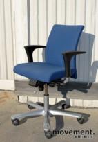 Håg H04 4400 kontorstol i mellomblått stofftrekk, FM 66071 (Fame), pent brukt, KUPPVARE