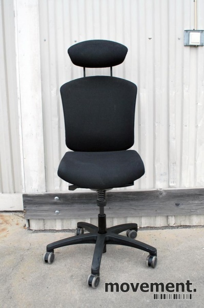 Savo MaxIkon 4 kontorstol med høy ryggog nakkepute, sort