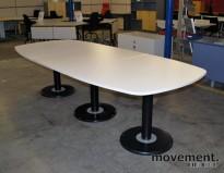 Moderne møtebord i hvitt, 280x120cm, NYTT