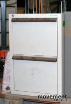 Wingerei brannsikkert arkivskap for hengemapper, 2 skuffer, 72 cm høyde, pent brukt