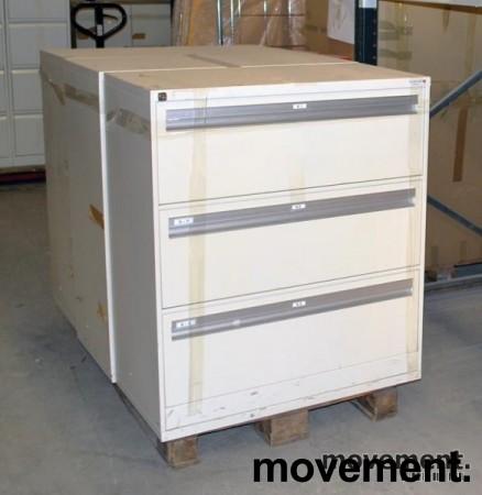 Fossafe 3skuffers arkivskap for hengemapper, 102 cm høyde, pent brukt bilde 1