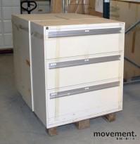 Fossafe 3skuffers arkivskap for hengemapper, 102 cm høyde, pent brukt