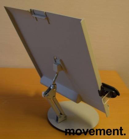 Manuskriptholder / konseptholder A4 fra Luxo, bordmodell med fot, pent brukt bilde 6