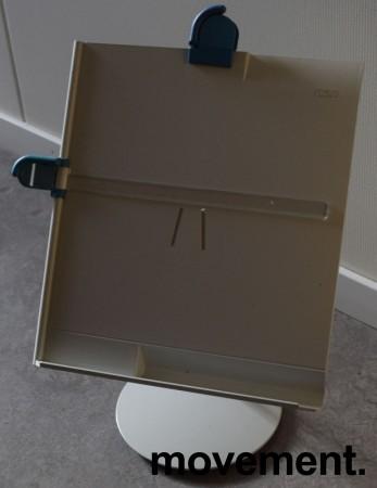 Manuskriptholder / konseptholder A4 fra Luxo, bordmodell med fot, pent brukt bilde 7