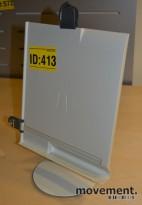 Manuskriptholder / konseptholder A4 fra Luxo, bordmodell med fot, pent brukt