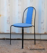 Stablestol / konferansestol i sort / blått, pent brukt