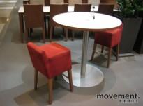 Lekkert, rundt barbord / mingelbord / kantinebord fra Inno, Finland, Ø=90cm, H=90cm, pent brukt