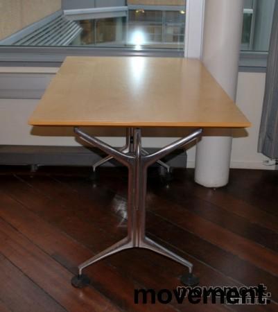Oken kompakt møtebord / rektanguært skrivebord i bjerk, 120x80 cm, pent brukt bilde 7