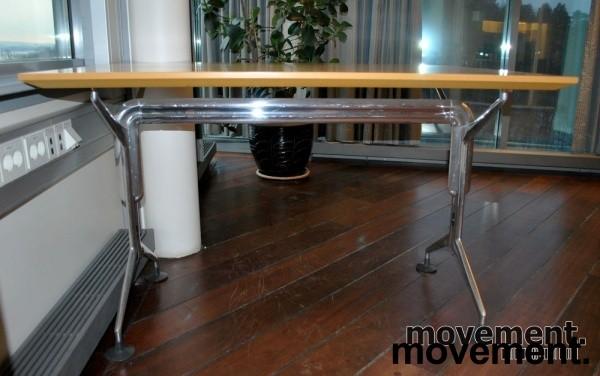 Oken kompakt møtebord / rektanguært skrivebord i bjerk, 120x80 cm, pent brukt bilde 4