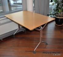 Oken kompakt møtebord / rektanguært skrivebord i bjerk, 120x80 cm, pent brukt