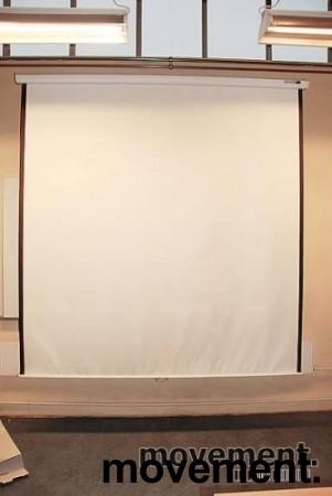 Da-Lite manuelt nedtrekkslerret 145 cm bredde, pent brukt bilde 2