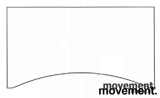 Hvit bordplate for skrivebord med innsving/magebue 160x90cm, NY/UBRUKT bilde 1