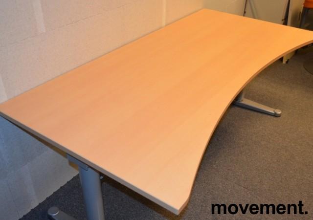 Bøk laminat bordplate for skrivebord med innsving/magebue 180x90cm, NY/UBRUKT bilde 1