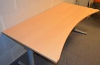Bøk laminat bordplate for skrivebord med innsving/magebue 180x90cm, NY/UBRUKT