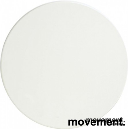 Bordplate, rund plate i hvit laminat, Ø=70cm, Tykkelse 25mm, NY/UBRUKT