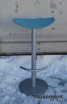 Barkrakk i turkis / grått, sittehøyde 76 cm, pent brukt