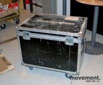 Flightcase / transportkasse på hjul, i sort, 79 cm lengde, brukt