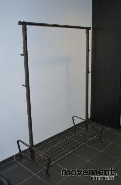 Fin IKEA Portis klesstativ / garderobestativi sort, 119 cm bredde IM-02