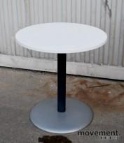 Avlastningsbord / småbord, pent brukt understell i grått, NYE plater i hvitt