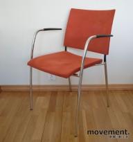 Lammhults Spira konferansestol i oransje mikrofiber / krom, pent brukt