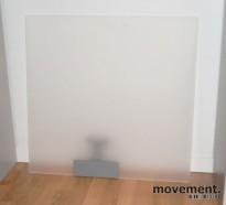 Bordskjerm / bordskillevegg i plexiglass, frostet, 70 cm bredde, pent brukt