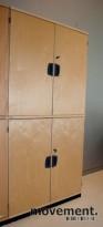 Kinnarps E-serie skap i bjerk, 4 høyder, 164 cm høyde, 80 cm bredde, pent brukt