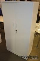 Ringpermreol i hvitt med dører, 4høyder, 159,5cm h, NY / UBRUKT