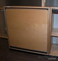 Kinnarps E-serie sjalusiskap i bjerk, 2 høyder, 80 cm bredde, pent brukt