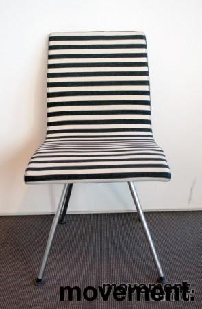 Lammhults Atlas konferansestol / besøksstol i sort / hvitt, pent brukt bilde 4