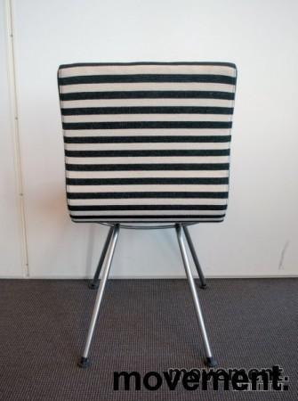 Lammhults Atlas konferansestol / besøksstol i sort / hvitt, pent brukt bilde 3