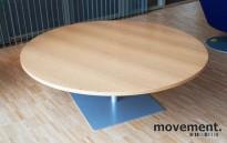 Inno rundt loungebord i eik / grått, Ø=140, 49 cm høyde, pent brukt