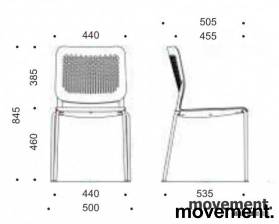 Konferansestol i sort / krom modell:Wait, NY bilde 5