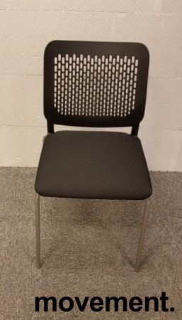 Konferansestol i sort / krom modell:Wait, NY bilde 2