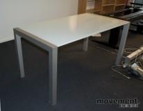 Skrivebord / kompakt møtebord i glass / metall, 150x80 cm, pent brukt