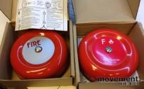 Alarmklokke for 24V brannvarslingsanlegg, 2 stk selges samlet, NYE I ESKE