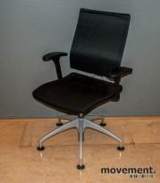 Sedus Open Up Up-201 svingstol / besøksstol i sort / grått, pent brukt