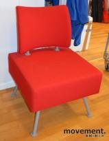 Loungestol / lenestol i rødt fra Helland, pent brukt