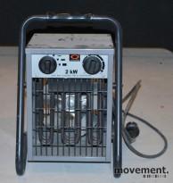Elektrisk vifteovn / varmluftsvifte, 2 kW, pent brukt