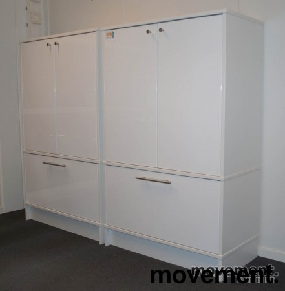 ikea effektiv skap i hvitt med d rer ogskuff for hengemapper pent brukt. Black Bedroom Furniture Sets. Home Design Ideas